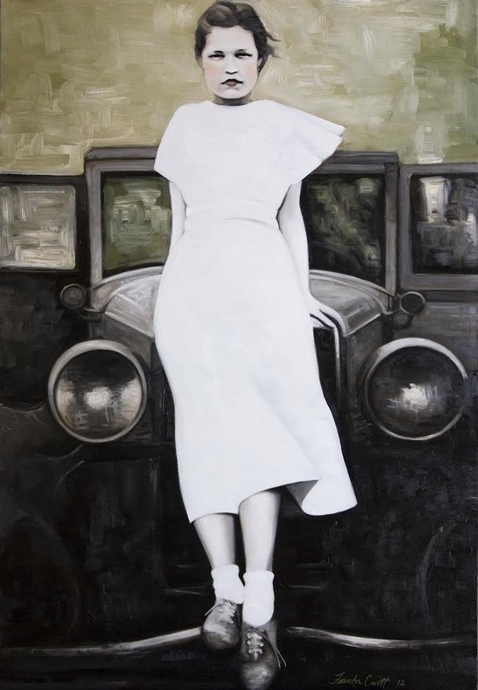 Noni_in_a_white_dress_24x30