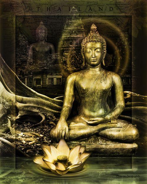 Thai Budha Montage