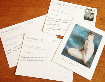 Postcards with custom stamps